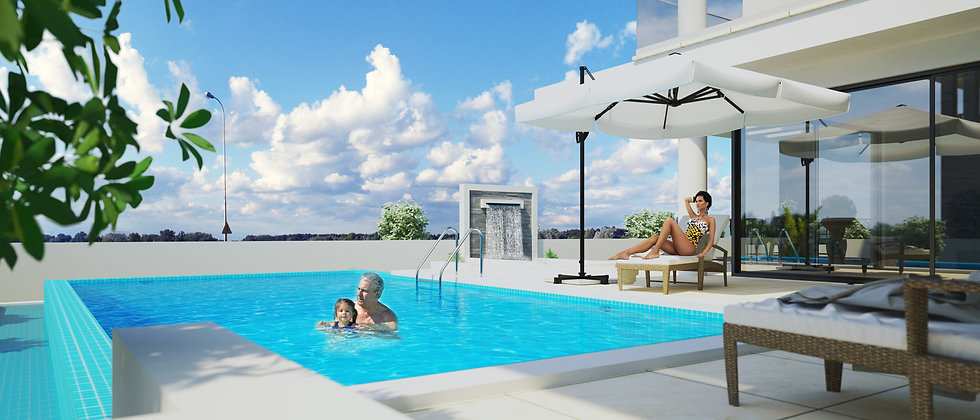 4 Bedroomed Villas in Dogankoy with Swimming pool, Large garden, Fire place...