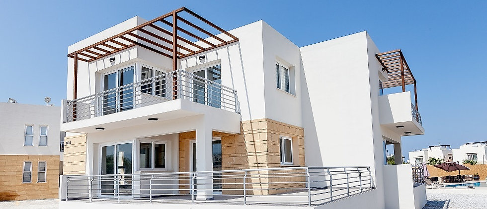 Modern Apartments along the coastline of Alagadi Turtle Beach in Girne (Kyrenia)