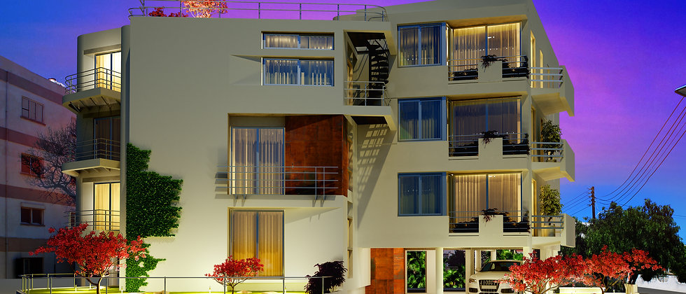 Luxurious apartments in Yenikent, Lefkosa for sale with 90m², title deeds