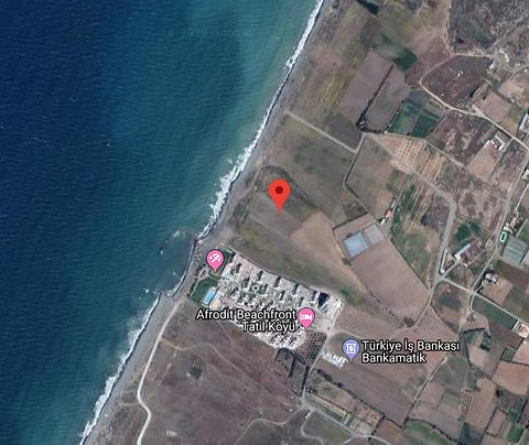45000 m2 commercial land for sale next to Aphrodite Beach in Guzelyurt