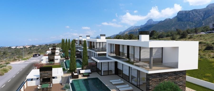 Four Luxury Bedrooms Villas in Catalkoy for sale,with spectacular sea views