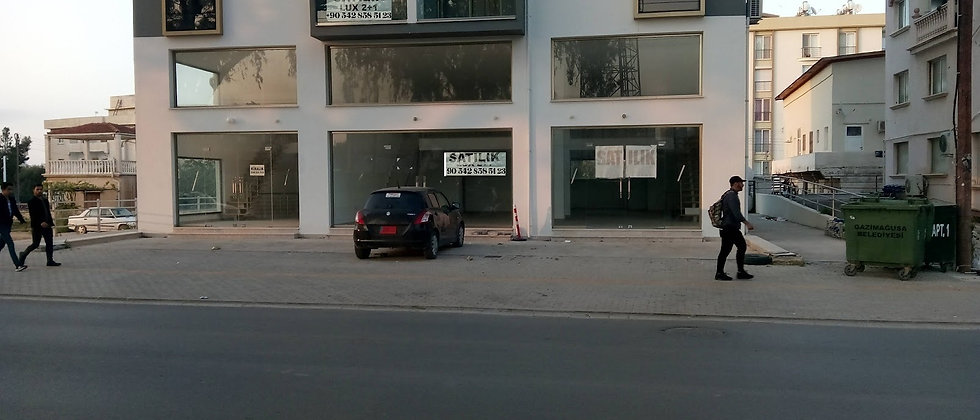 Commercial Shop for sale next to Salamis road, which is opposite E.M.U in Mağusa