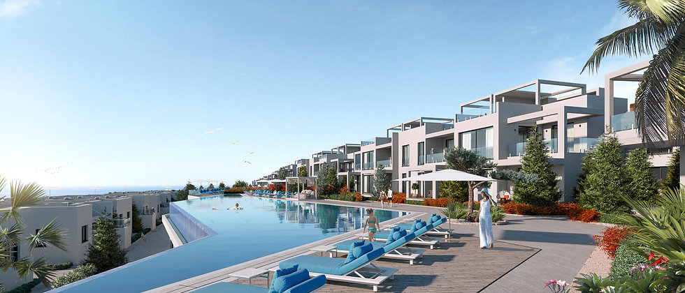 Luxury apartments and bungalows located 50m from the sea in Esentepe