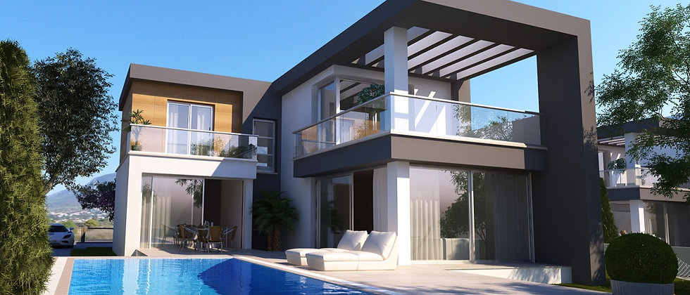 Villas in Caltakoy with spectacular sea views and mountains and have the follow