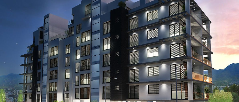 3 + 1 Penthouse Apartments for Sale in Kyrenia, North Cyprus