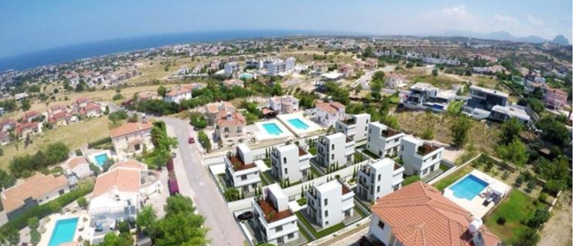 Three bedroom villa of 140 m2, in Catalkoy only 5 minutes' drive from the beach