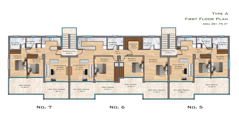First Floor Plan: Type A