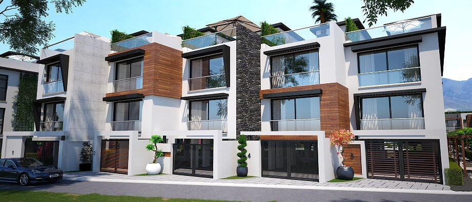 Terrace Houses in Girne ( Kyrenia ), Karaoğlanoğlu for sale...