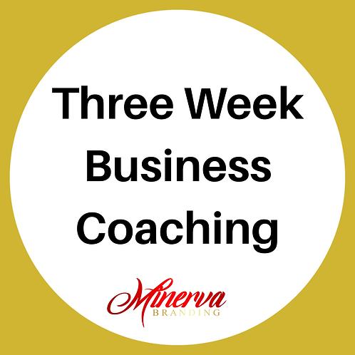 Three Week Business Coaching