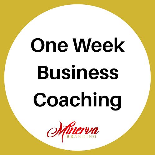One Week Business Coaching