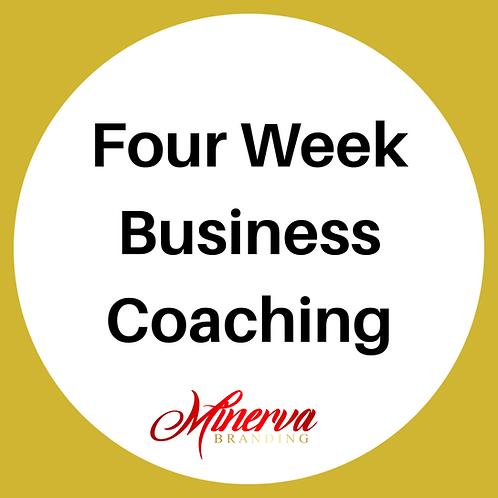 Four Week Business Coaching