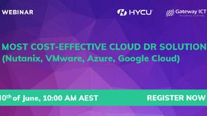 Most cost effective cloud DR solution (Nutanix, VMware, Azure, Google Cloud)