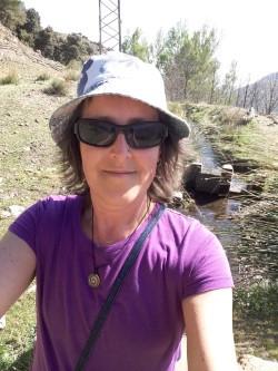 Julie on a walk