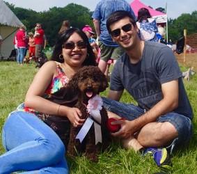 Tess, her husband and the dog