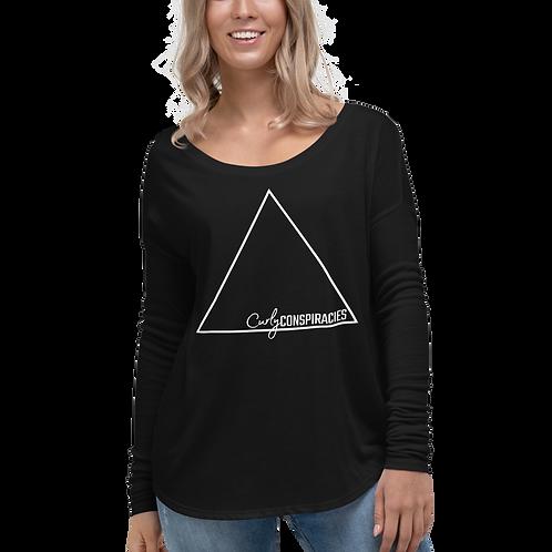 Ladies' Long Sleeve Triangle Logo Tee