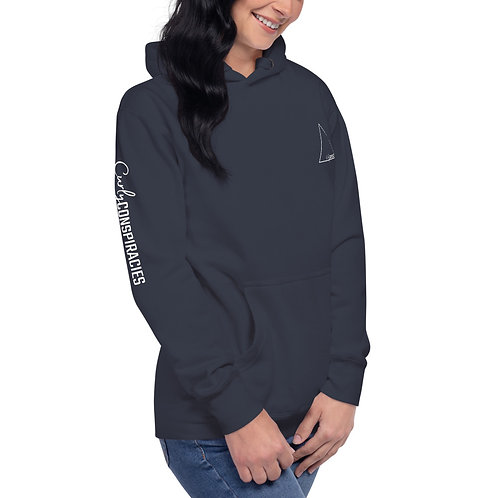 Unisex Curly Conspiracies Logo Hoodie (Colors)