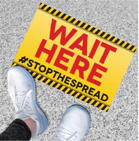 "#Stopthespread Floor Graphic - Rectangle 15""x10"""