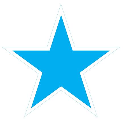 Star (Sharp Edge): Bright Blue