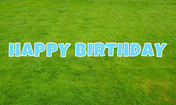 HAPPY BIRTHDAY Letter Set - Light Blue