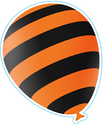 Halloween Striped Balloon