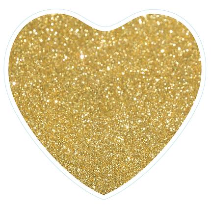 Heart: Gold Glitter