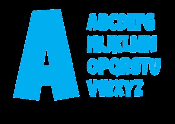 Alphabet - Bright Blue