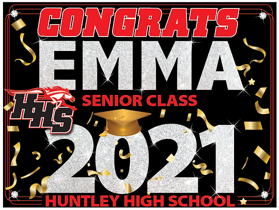 Yard Sign (18x24), HHS Name2