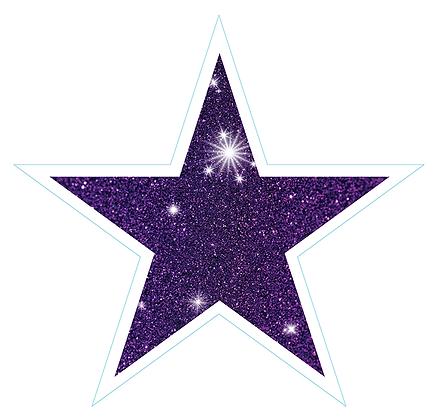 Star (Sharp Edge): Purple Sparkle