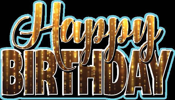 Happy Birthday Mini Set - Black Gold Drizzle