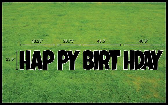 "HAPPY BIRTHDAY 23.5"" EZ Set 4pc - Luckiest Guy"