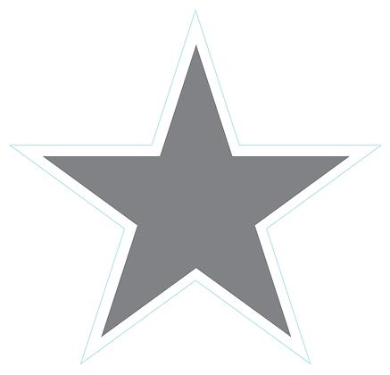 Star (Sharp Edge): Gray