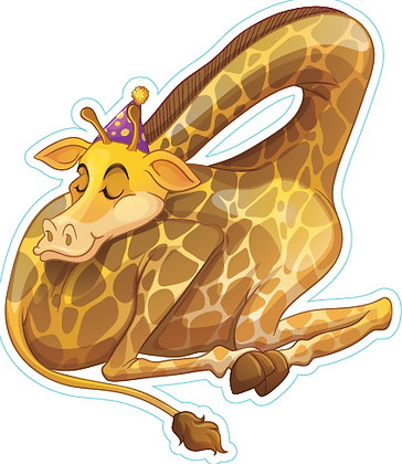 Giraffe with head down