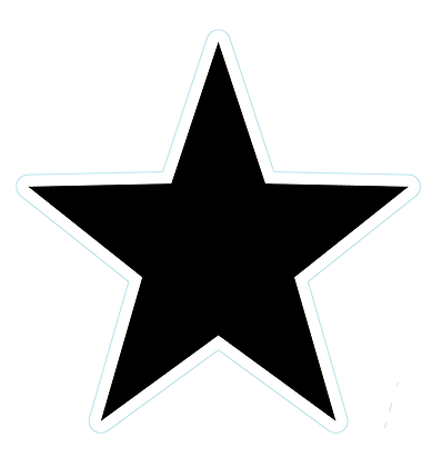 Star (Sharp Edge): Black