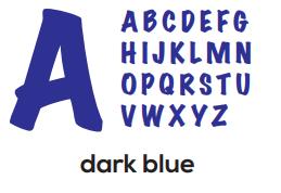 Alphabet - Dark Blue