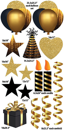 Themed Set - Black & Gold Drizzle