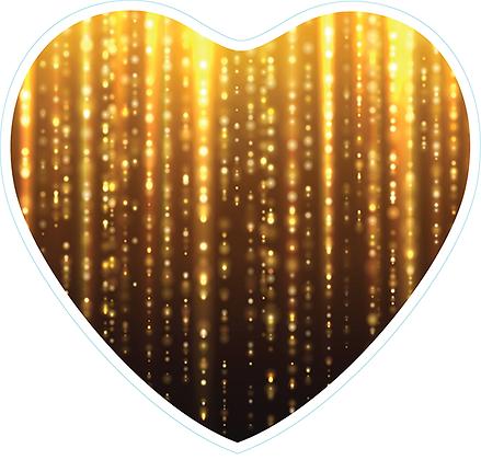 Heart_Black & Gold Drizzle