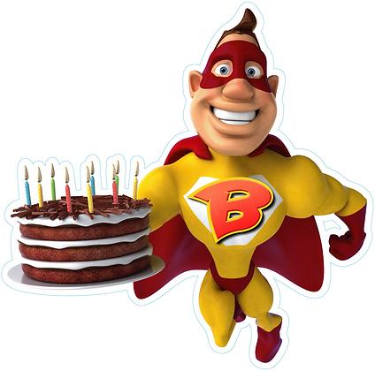 Superhero with Cake