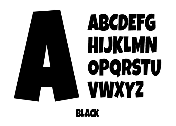 Letter -Black