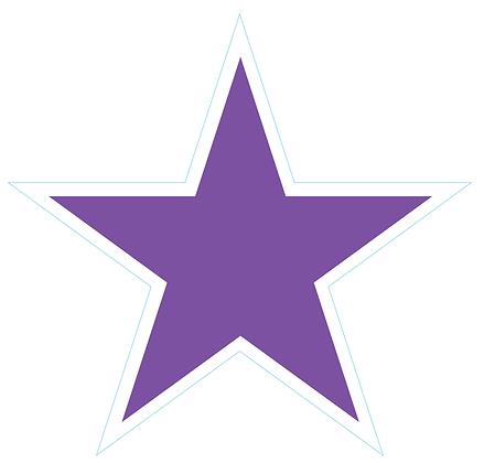 Star (Sharp Edge): Light Purple