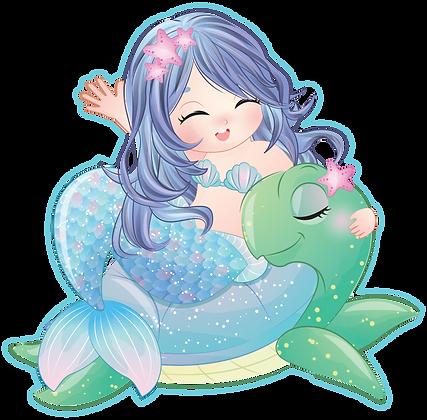 Mermaid on Turtle