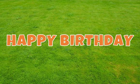 HAPPY BIRTHDAY Letter Set - Orange