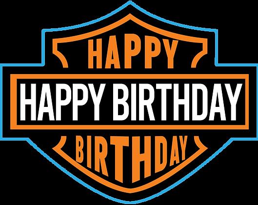 Harley Davidson Like Happy Birthday Sign