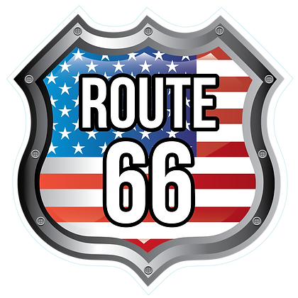 Route 66 Sign_Flag Background