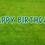 Thumbnail: HAPPY BIRTHDAY Letter Set -Myrtle Green