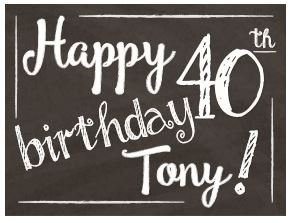 Happy Birthday Yard Sign - 40th Name