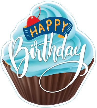 Birthday Cupcake - Blue