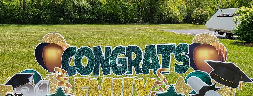 GRADUATION - 1-DAY Lawn Party Display Rental