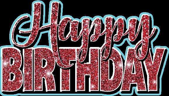 Happy Birthday Mini Set - Red Glitter