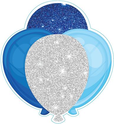 Balloon Cluster: Blue, White