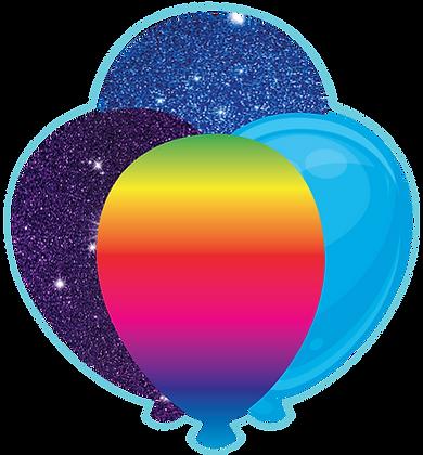 Balloon Cluster: Blue, Purple, Rainbow